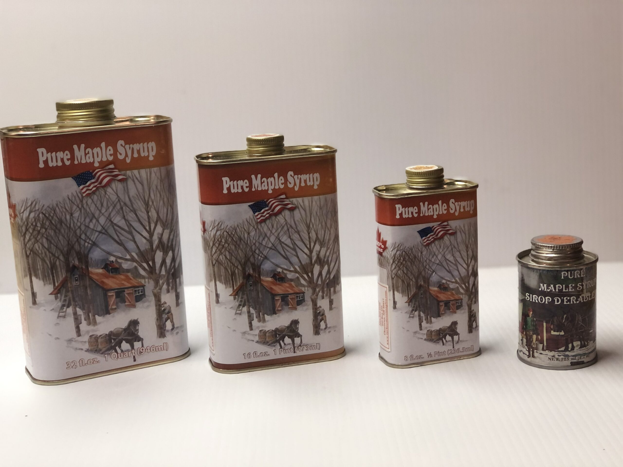 Maple Syrup Tin Jugs